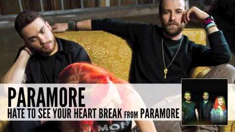 Paramore Hate To See Your Heart Break (Audio)