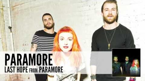 Paramore Last Hope (Audio)