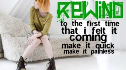 Paramore-Rewind LYRICS