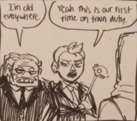 Vacation Comic- Griggs and Savage On Train Duty