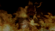 Demon on fire
