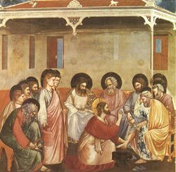 Giotto - Scrovegni - -30- - Washing of Feet