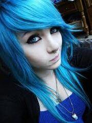 Blue haired girl Kitty