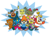 PaRappa The Rapper groupshot