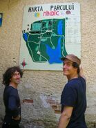 Map on the villa's wall