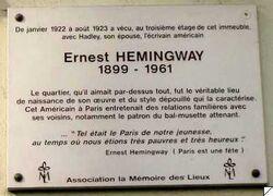 Plq Hemingway Lemoine