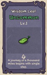 1 - Wisdom Leaf
