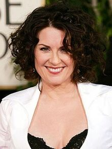 Megan-Mullally-Curly-Dark-Brown-Short-Bob-Haircut-For-Special-Events-For-Women-Over-40