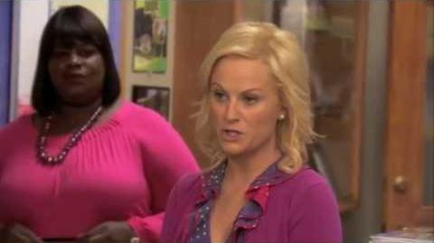 Leslie Knope tries impressions and accents