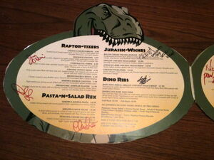 Jurassic Fork Menu Page 1