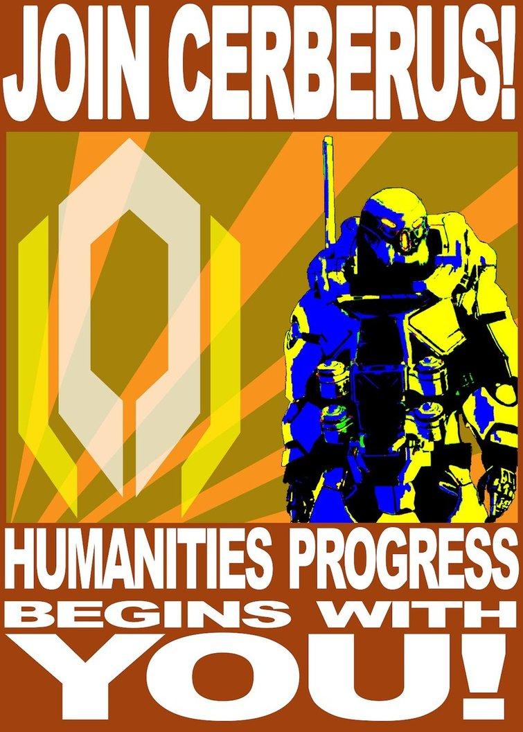 Cerberus propaganda poster by saphin-d53f2ru