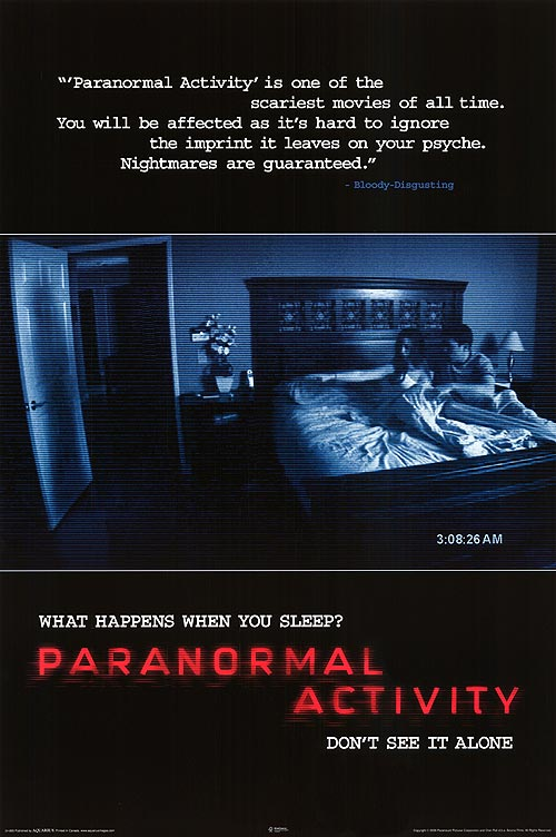 Image result for paranormal activity release