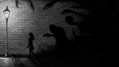 Creeping shadows by sanguithar-d5jke6g