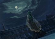 Almedha in the moonlight