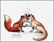 Fox love by 170294-d70n9od