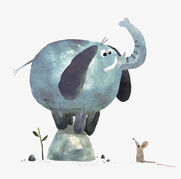 An Elephant Must Flap His Huge Ears In Order to Fly The Higher the Elephant Flies The Faster He Flaps His Ears Like Two Big Wings and the Faster the Elephant Flies