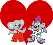 Blinky Bill and Kisha the Koala love together