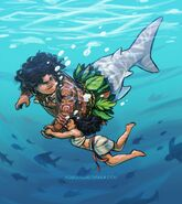 Maui as a merman