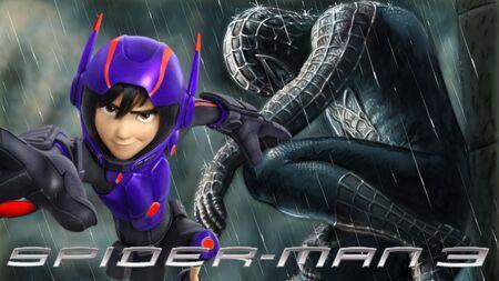 Hiro Hamada as Symbiote Spider-Man