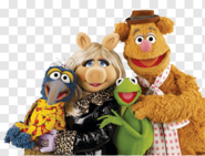 Kermit Fozzie Gonzo & Miss Piggy (The Muppets) as The Crows