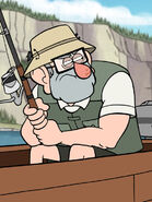 S1e2 grunkle stan holding fishing pole