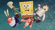 Spongebob and friends are flying
