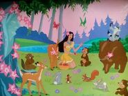 Pocahontas and her animal friends by flapperfoxy d97vyqu