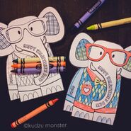 Crayola Valentine's Day Elephants