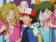 Idiot Ash gets yelled at by three ladies