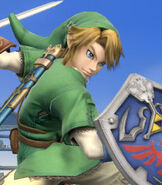 Link in Super Smash Bros. for Wii-U and 3DS