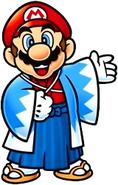 Mario wears Japanese Attire