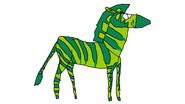 Beast Boy as a Plains Zebra