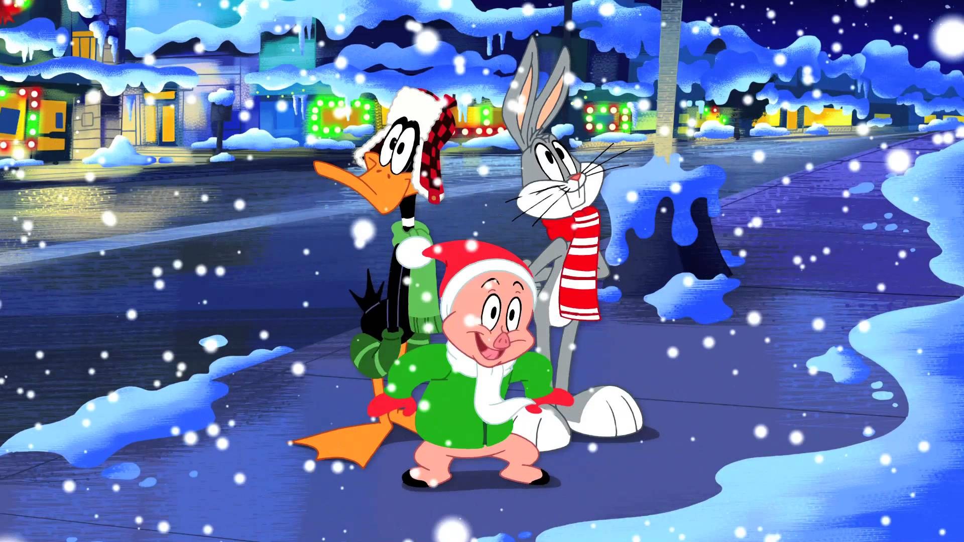 bugs daffy and porky sings christmasjpg - Porky Pig Sings Blue Christmas