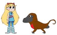 Star meets Gelada