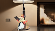 Starfire Attached to Diamond Destiny's Bedside Lamp Inspired by the Heroine Merged to Resemble Three Penguins