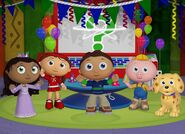 Whyatt, Red, Pig, Princess Pea, and Puppy Are Having A Party