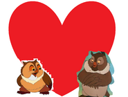 Friend Owl and Big Mama love together