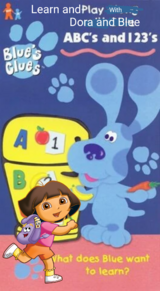 Learn and Play With Dora and Blue (VHS)