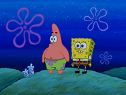 Spongebob and patrick see the pirate ship