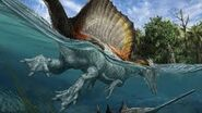 Dinosaur Swimming