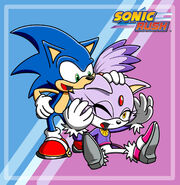 Sonic and blaze in sonic rush