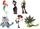 Mavis Dracula, Ariel, Jessie, Astrid Hofferson, Zygarde & Armaldo
