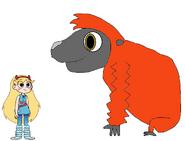 Star meets Bornean Orangutan