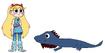 Star meets Marine Iguana