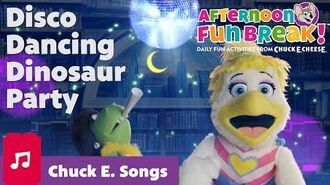 Disco Dancing Dinosaur Party Chuck E. Cheese Silly Songs for Kids Afternoon Fun Break