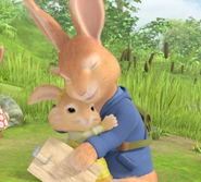 Peter and Cotton-Tail hugging