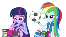 Rainbow and Twilight Bored Vector in Equestria Girls (1)