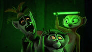 King Julien screams in the dark