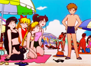 Serena and Friends at the Beach