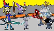 Ten Cents, Hercules, and Bedford vs Carla - Ten Cents the Dragon 3.